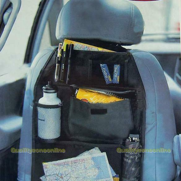 Car Back Seat Organizer Storage Collector Bag Multi-Pocket Black
