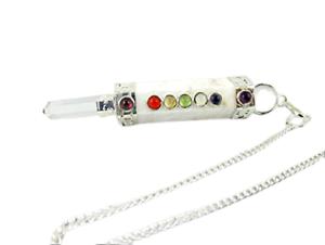 Jet-Scolecite-Mini-Chakra-Stick-Pendulum-3-3-5-inch-approx-Pocket-Wand