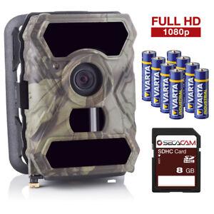 SECACAM HomeVista: Wildkamera 1080p Full HD Video Überwachungskamera Außenkamera