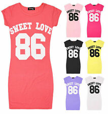 Girls Cap Sleeve Casual Dress Kids Bodycon Summer Sun Dresses New Age 7-13 Years