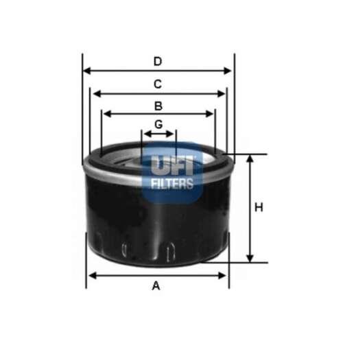 Convient Nissan Note E11 1.5 DCI AUTHENTIQUE UFI Visser Spin-sur moteur filtre à huile