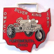 Silver King Tractor Pocket Watch Fob OWFCC Ohio Watch Fob Collector Club 1987