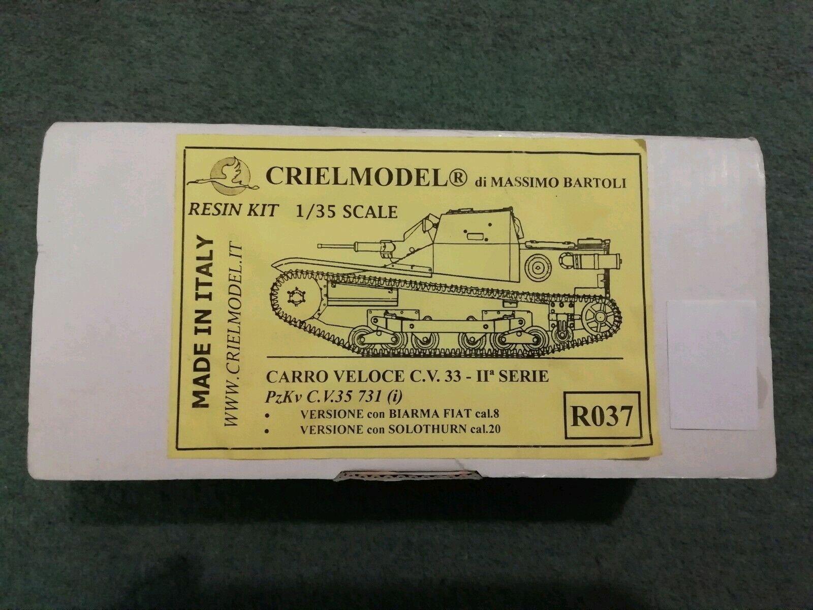 Crielmodel Criel 1 35 Resin Kit R037 Carro Veloce CV 33