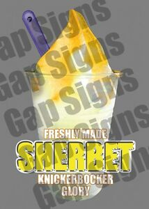 Ice Cream Van Autocollant Jaune Sorbet Kbg Flake-afficher Le Titre D'origine Iwt9ktza-07233616-910659311