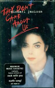MICHAEL-JACKSON-They-Don-039-t-Care-Cassette-SINGLE-Sealed