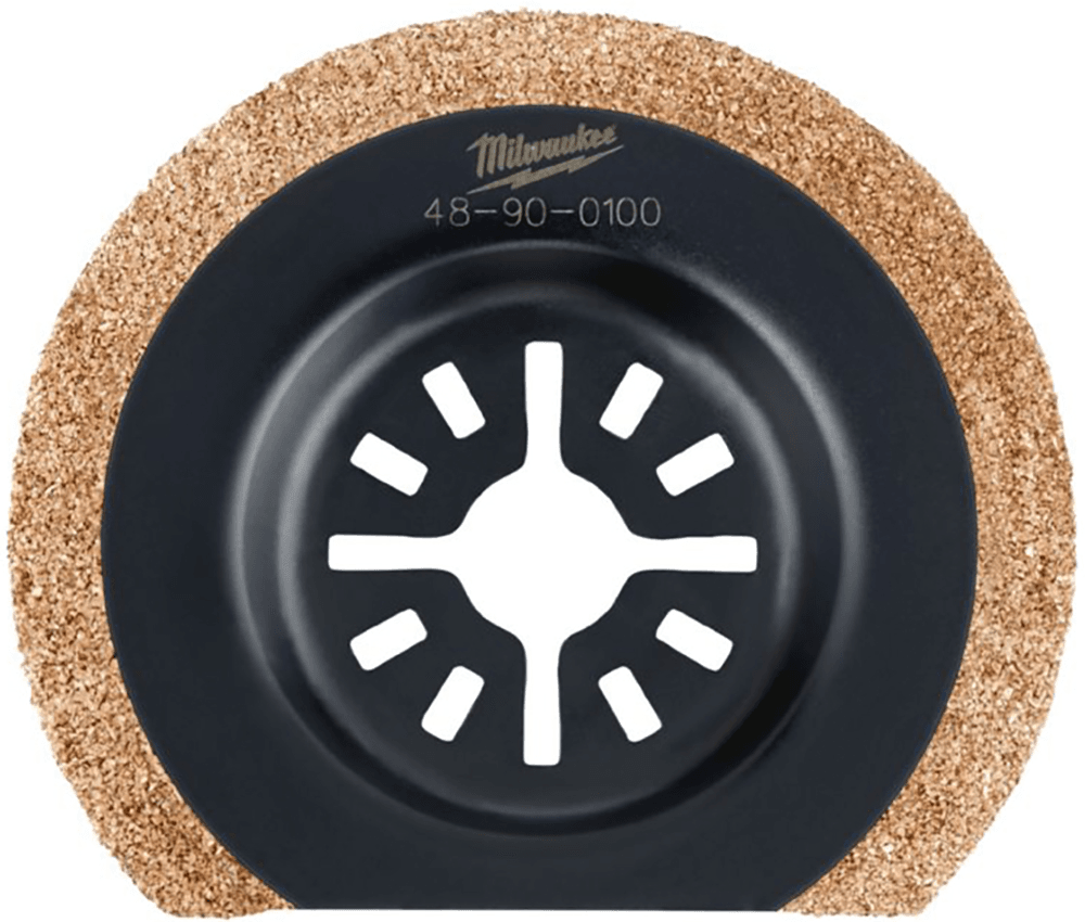 Milwaukee CARBIDE GRIT MULTI-TOOL BLADE 48900100 75mm Universal Shank USA Brand
