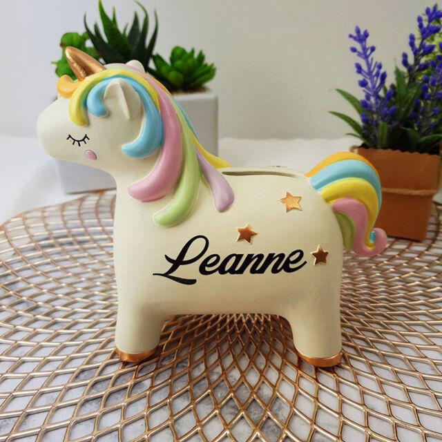 Personalised Unicorn Ceramic Money Box - Personalised Custom Gift