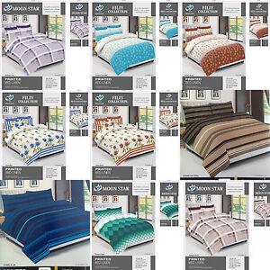Brand-new-complete-duvet-set-bedding-set-4pc-single-double-king-pollycotton