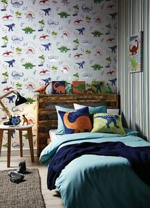 Image Is Loading Dino Doodles Dinosaur Themed Room Concept Boys Bedroom
