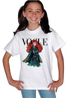 Disney Princess Merida Vogue Cover T-shirt Unisex Kids Boys Girls Birthday 829