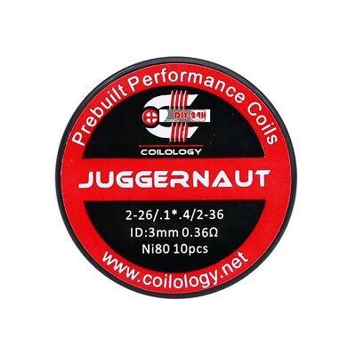 10x Coilology Ni80 Juggernaut 0,36 Ohm Coils Fertigwicklung Wickeldraht Rba, Cl3