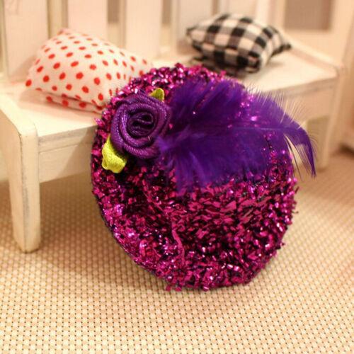Mini Hats Hair Clip Girl Feather Hairpin Shiny Cap Bobby Pin Random Color E/&TB