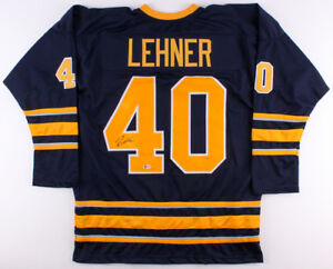 new arrival 8bf40 b309e Details about Robin Lehner Signed Sabres Jersey (Beckett COA) Buffalo's #1  Goaltender