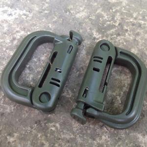 2x Tactical Grimloc Safe Buckle MOLLE Locking D-ring Carabiner EDC Webbing、2018
