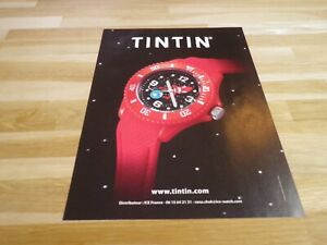 Herge-Tintin-Publicidad-Revista-Publicidad-Reloj
