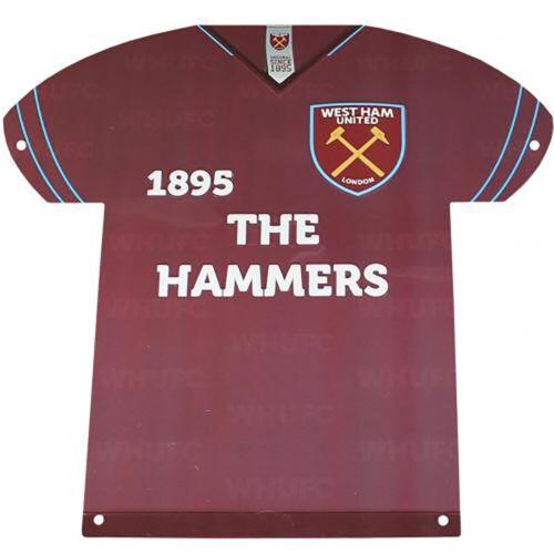 West Ham United F.C PLAQUE GIFT Metal Shirt Sign