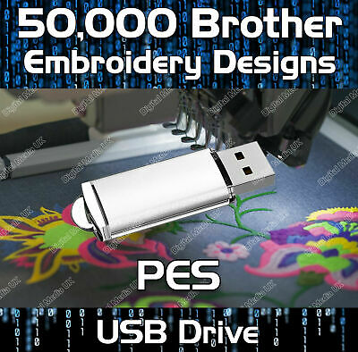 160,000 Brother Babylock Bernina Deco Embroidery design files PES on USB drive