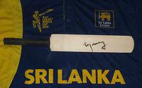 Sanath Jayasuriya (sri Lanka) Signed Mini Cricket Bat + Coa & Photo Proof