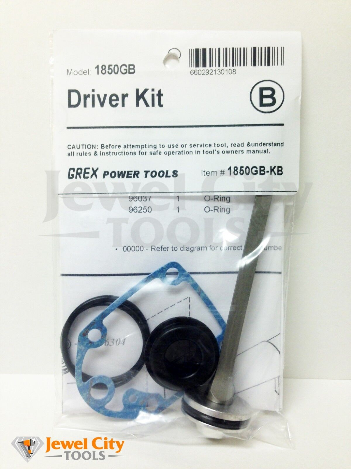 Grex Replacement O-Ring Kit for 1850GB Part #  1850GB-KD 660292130153 1850GBKB
