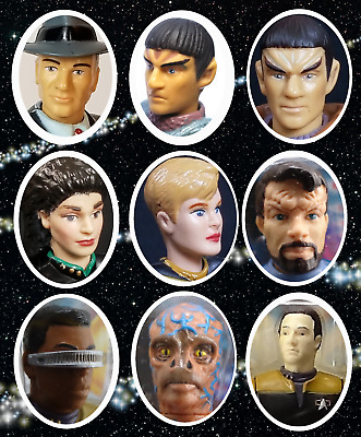 1994 CREW Loose Figures Bases /& Accessories Star Trek Next Generat Playmates
