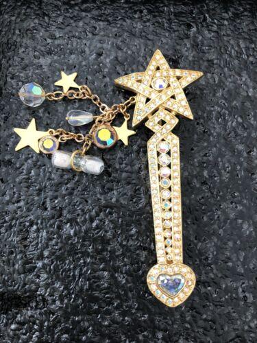 Kirks Folly Signed Fairy Godmother Wand Swarovski… - image 1