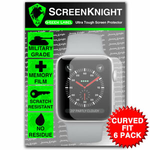 Screenknight-Apple-Watch-Series-3-38-MM-Protector-de-Pantalla-Ajuste-Curvado-Paquete-de-6