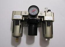 "3/8"" NPT  Compressed Air Pneumatic  Filter Regulator Lubricator Combo  FRL"