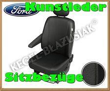 Kunstleder Sitzbezüge Ford Transit - Schwarz - für Fahrersitz