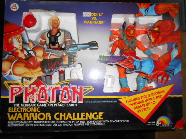 LJN PHOTON ELECTRONIC Warrior Challenge VINTAGE Laser Space Entertech