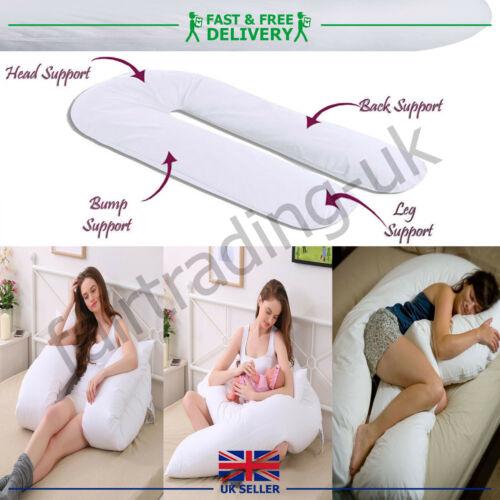 NEW 9 FT BIG U SHAPE FULL BODY & BACK SUPPORT MATERNITY PREGNANCY COMFORT PILLOW