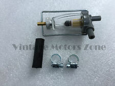 Royal Enfield Glass Bowl Fuel Filter With Pipe & Holding Clip