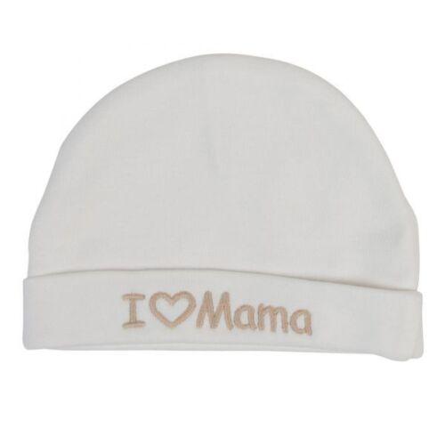 "Milarda Baby gorra erstlingsmütze crema talla 37-39 /""I Love mamá/"""
