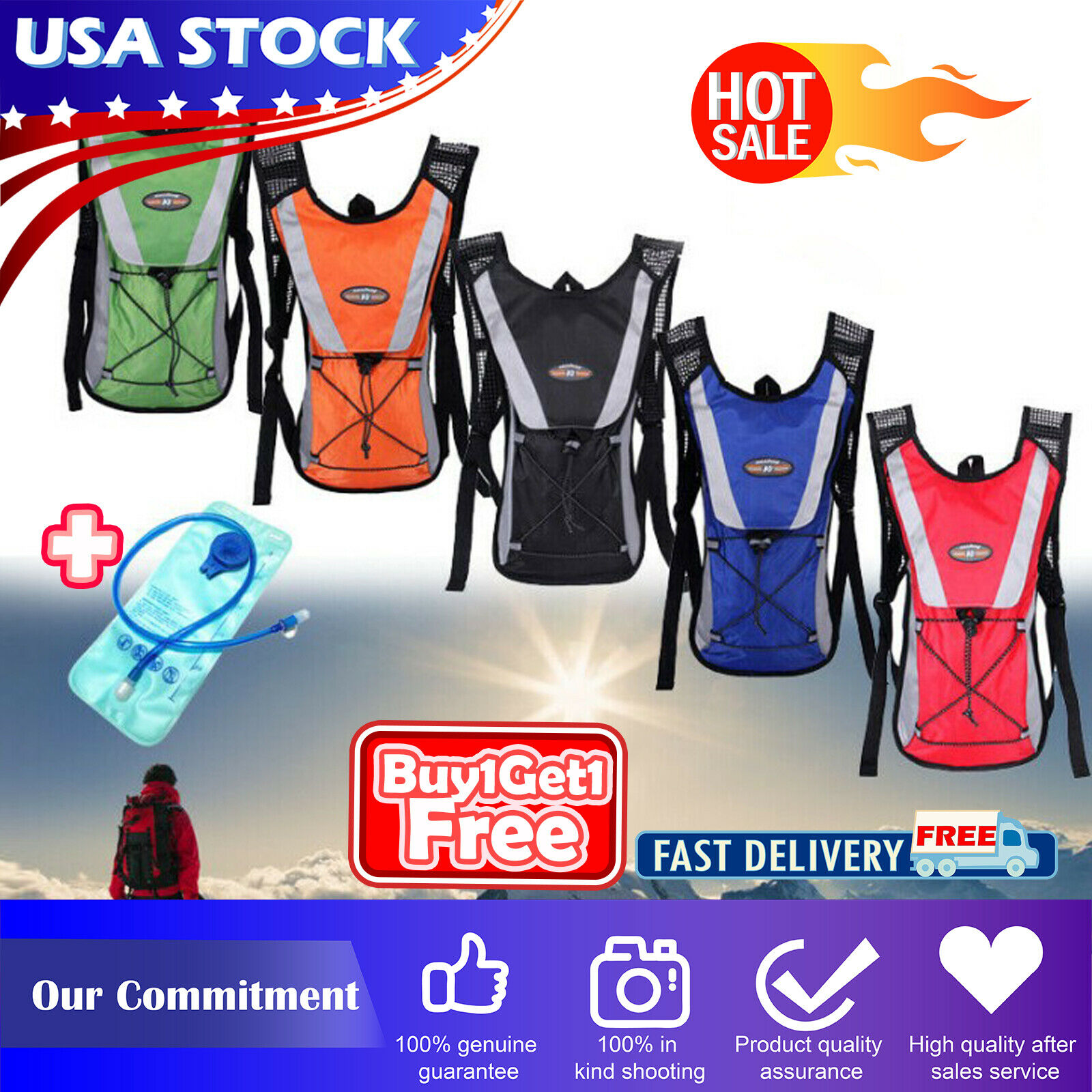 Camel Back Hydration Bladder Water Cycling Camping Hiking Sports Pack Military