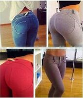 Sexy Women Leggings Slim Fit Stretchy Tight Pants Soft Pencil Jeggings Trousers