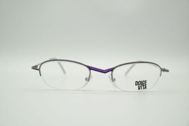 Vintage Casanova DVL-2 Purple half Rim Glasses Frames Eyeglasses N.