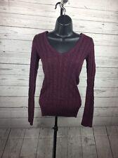 American Eagle Women's Purple V Neck Sweater Size Medium M