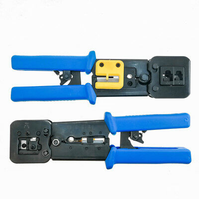 100 EZ Cat6 Connectors End pass through ethernet EZ-RJ45 Cat6 Crimp Tool Combo