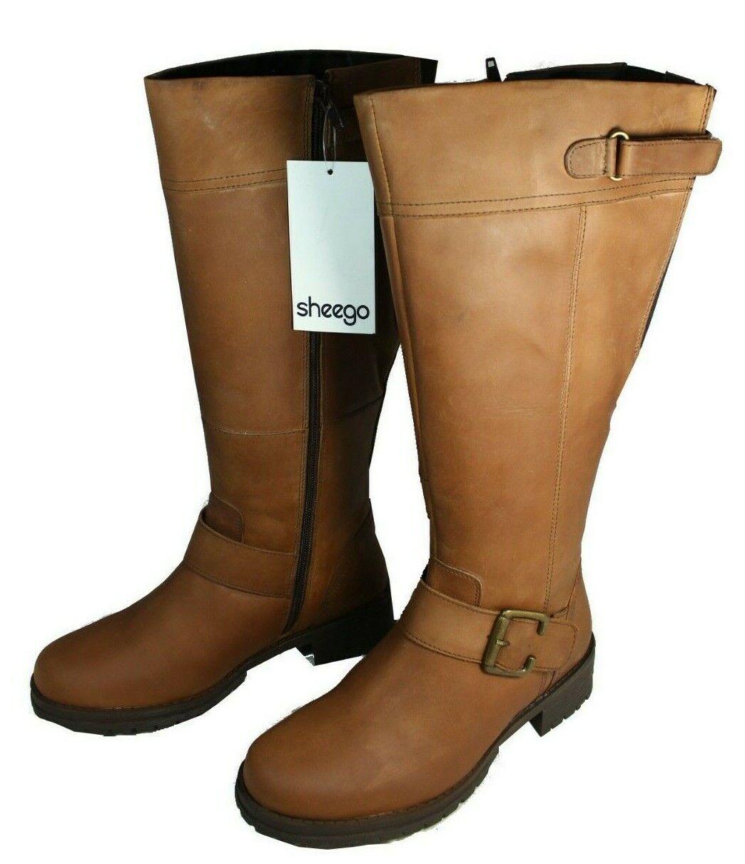 Damen Gr.43 Stiefel Leder XL Weitschaftstiefel Sheego