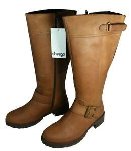 Details zu Sheego Weitschaftstiefel Leder Stiefel Gr.37 Damen Schuhe Damenstiefel XL Schaft