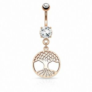 Beautiful-Belly-Button-Piercing-Tree-of-Life-Rose-Gold-IP-Tree-of-Life-Pendant