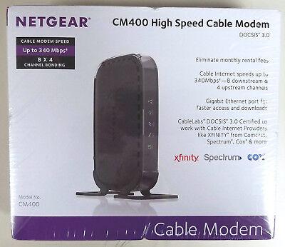 NEW Netgear CM400 High Speed Cable Modem DOCSIS 3 0 Xfinity