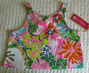 a58066529a NWT Lilly Pulitzer Target Nosie Posey Floral Girls L 10 12 Crop Tank ...