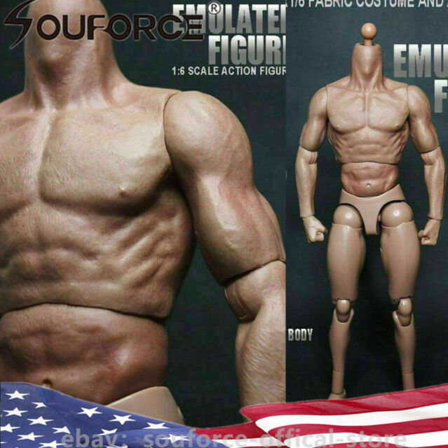 1//6 Scale Super Flexible Male Muscular Seamless Body Nude Action Fige for TTM18