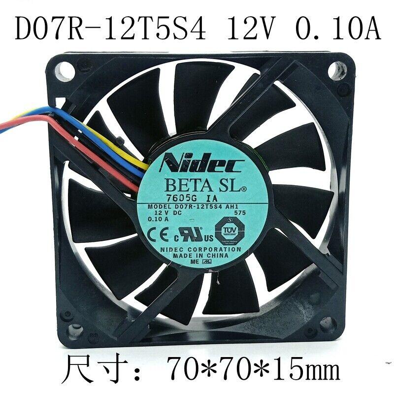 1pc Nidec D07R-12T5S4 AH1 7015 7cm 12V 4-wire CPU Cooling Fan Mute