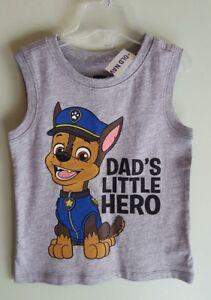 Old-Navy-Boys-18-24-Months-2T-4T-Paw-Patrol-Sleeveless-Tee-DAD-039-S-HERO-321817