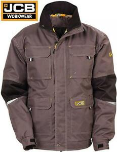 Mens-JCB-CLAYTON-Workwear-Windproof-Waterproof-Breathable-Bomber-Jacket-Coat-Sz