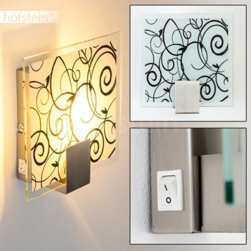 Design Wandleuchte mit Schalter Flur Lampe Wohn Schlaf Zimmer Diele mit Muster
