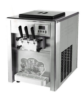 Commercial-18L-H-3-Flavor-ice-cream-maker-Soft-ice-cream-making-machine-220V