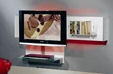 """MUNARI mobile porta TV fino a 60"""" pensile BELT03 con vetro BIANCO e LED a scelta"""