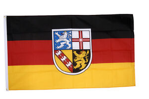 Saarland Flag 5 x 3 FT - 100% Polyester With Eyelets Germany Province